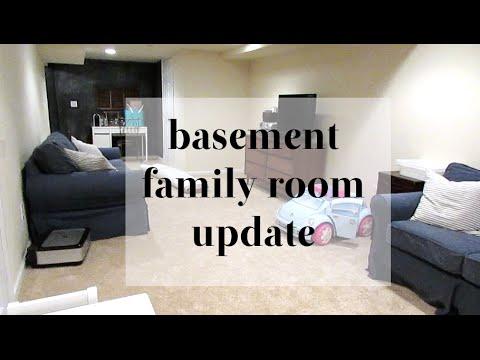Basement Family Room Update (new carpet!)