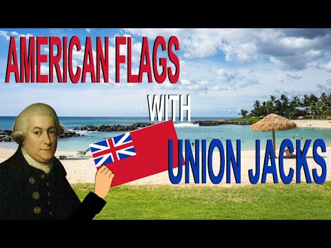 UK Vs USA - American Flags That Include The British Union Jack