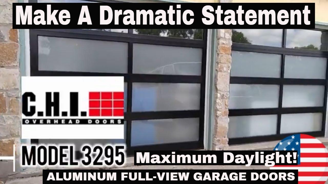 Modern Glass Garage Door Gives Maximum Day Light