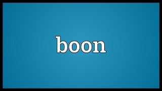 Boon Meaning