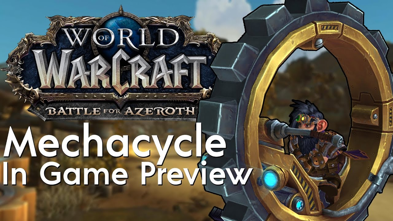 Mechacycle Model W (Wheel Mount) - In Game Preview | Battle for Azeroth