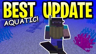 Minecraft 1.13 THE BEST UPDATE OF ALL TIME! New Aquatic Items & Mobs PE, Xbox One & Switch