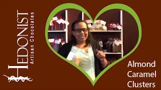 Hawa Ibrahim Almond Caramel Clusters Hedonist Artisan Chocolates