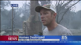 Glen Ellen Resident Talk About Escaping Fire In Sonoma County
