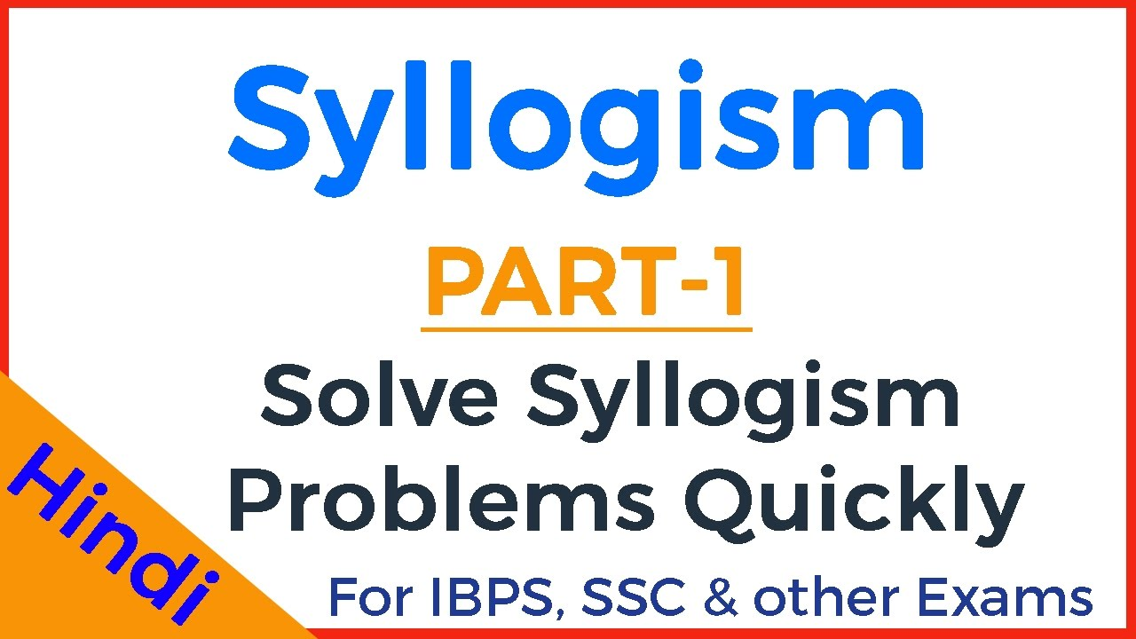 SOLVE SYLLOGISM PROBLEMS PDF DOWNLOAD