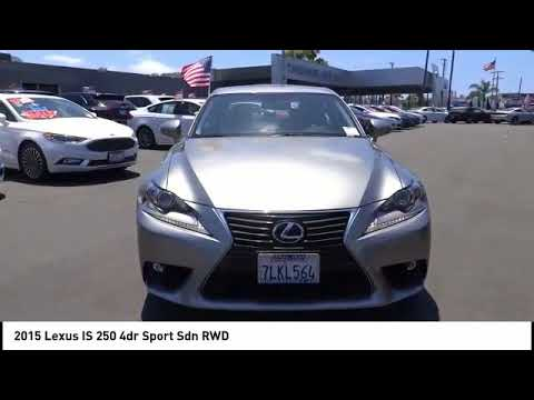 2015 Lexus IS 250 COSTA MESA,NEWPORT BEACH,HUNTINGTON BEACH,IRVINE 0P076054