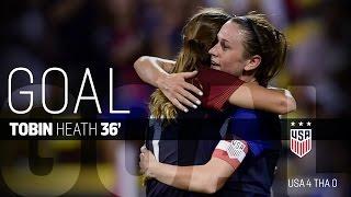 WNT vs. Thailand: Tobin Heath Goal - Sept. 15, 2016