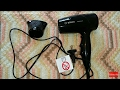 Hairdryer Bosch BlackStyle PHD2511B/01. Unboxing. How to use. Noise test. FullHD 1080p