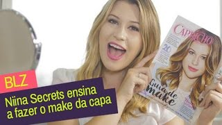 blz niina secrets ensina o make da capa do guia de make