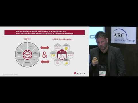 Global Supply Chain Analytics Approach - Jan Theissen of AGCO @ ARC Orlando Forum 2017