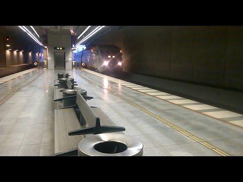 Tog på Malmö Central Station