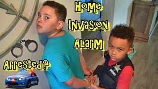 CRAZY COP CALLS! HOME INVASION ALARM! ARREST RYAN???