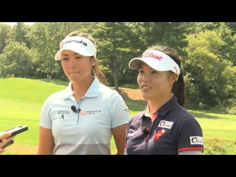 2014 Canadian Pacific Women's Open - Rebecca Lee-Bentham and Sue Kim - Pre-tournament Interview