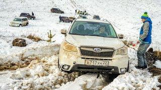 ПРАДО НЕ МОЖЕТ ЗАЕХАТЬ НИКУДА. Toyota Land Cruiser Prado на снегу