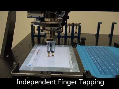 robotic anti aliasing touch screen testing tactile. Black Bedroom Furniture Sets. Home Design Ideas