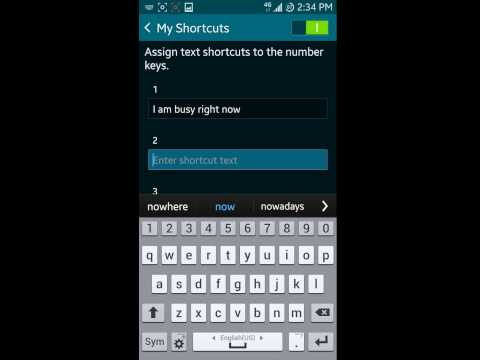 How to use text templates(shortcuts) on Galaxy S5