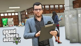 GTA 5 Real Life Mod #30 - GOING BACK TO SCHOOL!! (GTA 5 Mods Gameplay)