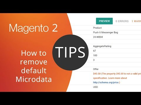 Magento 2 Tips - How to remove default Schema.org Microdata