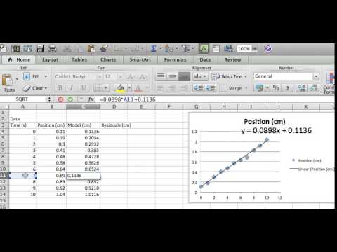 U01V05 Calculating RMSE in Excel