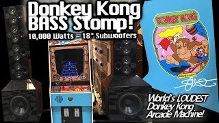 Donkey Kong BASS STOMP! Real 1981 Arcade Machine Tapped Into 10,000 Watt Speaker Towers