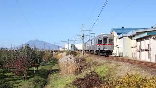 弘南鉄道大鰐線 7000系12列車 義塾高校前〜石川 2019年11月13日