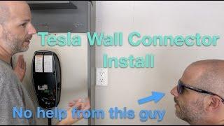 Tesla Wall Connector Install