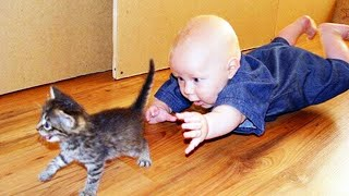 Funniest Baby And Cat - WE LAUGH