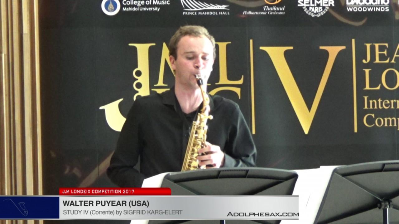Londeix 2017 - Walter Puyear (USA) - IV Corrente by Sigfrid Karg Elert