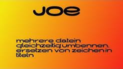 Musiktitel GLEICHZEITIG umbenennen - JOE TUTORIAL