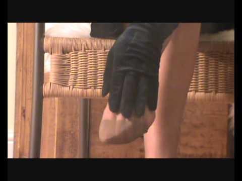 Blowin Smoke over my RHT suntan nylon stockings