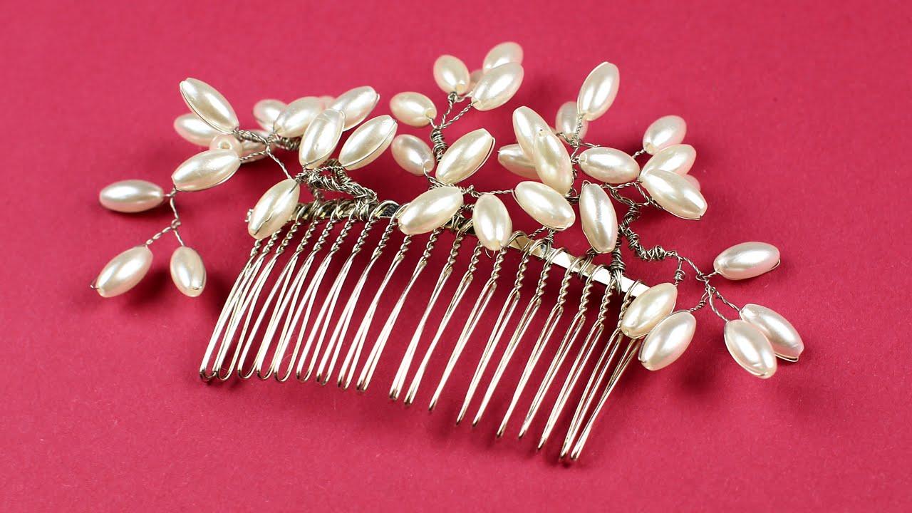 ccecef11bc5b Как сделать гребень для волос из бусин и проволоки своими руками