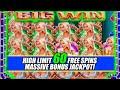 $50 BETS & 60 BIER HAUS HIGH LIMIT ➜ FREE SPINS ★ SLOT MACHINE BONUS ★