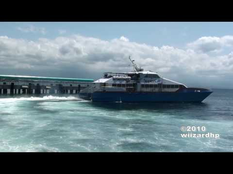 SuperCat 38 leaving Port of Calapan City