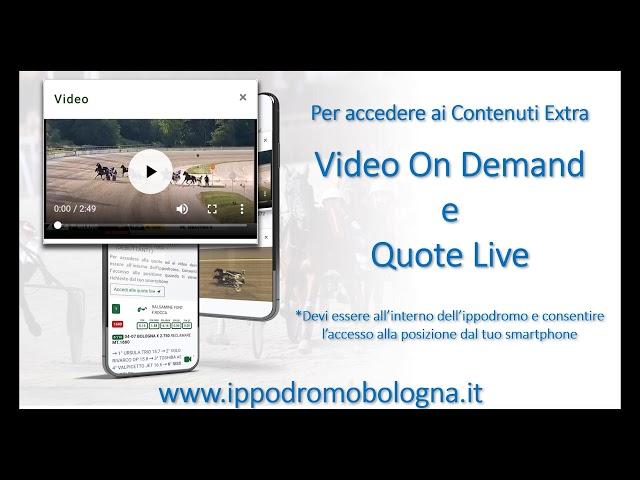 Ippodromo di Bologna | Presentazione del Nuovo Sito Web e del Programma Corse Live