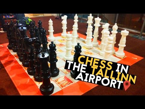 Chess in the Tallinn Airport | Scacchi in Aeroporto a Tallinn