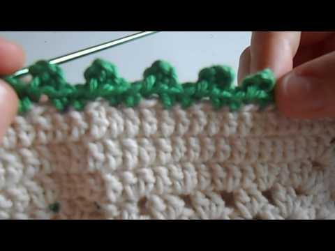 Pap de crochê | Ponto de acabamento bolinha simples e fácil | Sol Ensinando Crochê