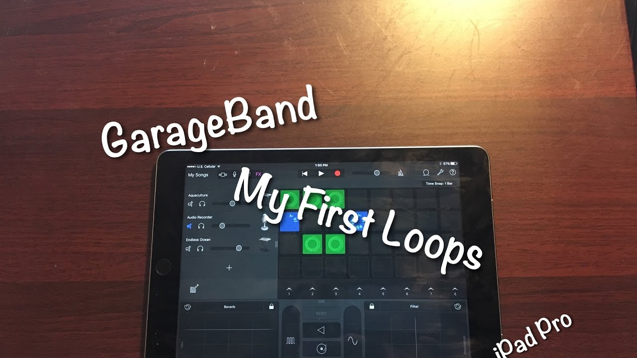 Garageband My First Loops Ipad Pro Youtube