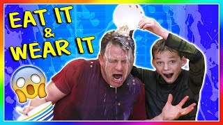 EAT IT AND WEAR IT CHEERIOS CHALLENGE | We Are The Davises