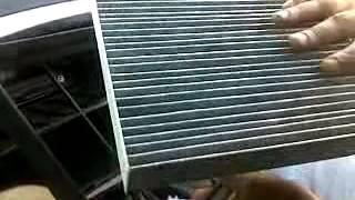 Замена воздушного фильтра салона