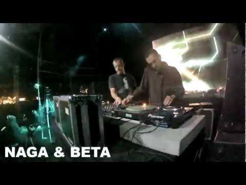 NAGA & BETA ( HAIRY REC ) @ BALATON SOUND 2012 T-COM TERASZ