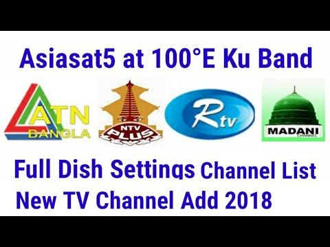 Asiasat5 at 100°E Ku Band New TV Channel Started 2018, Dish Antina Setup &  Channel list 2018