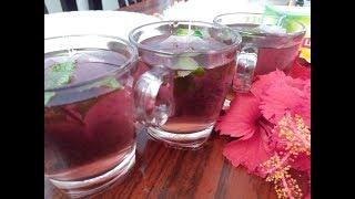 Detox Hibuscus tea by cooking with Girija/Herbal hibuscus tea/How to make hibuscus tea