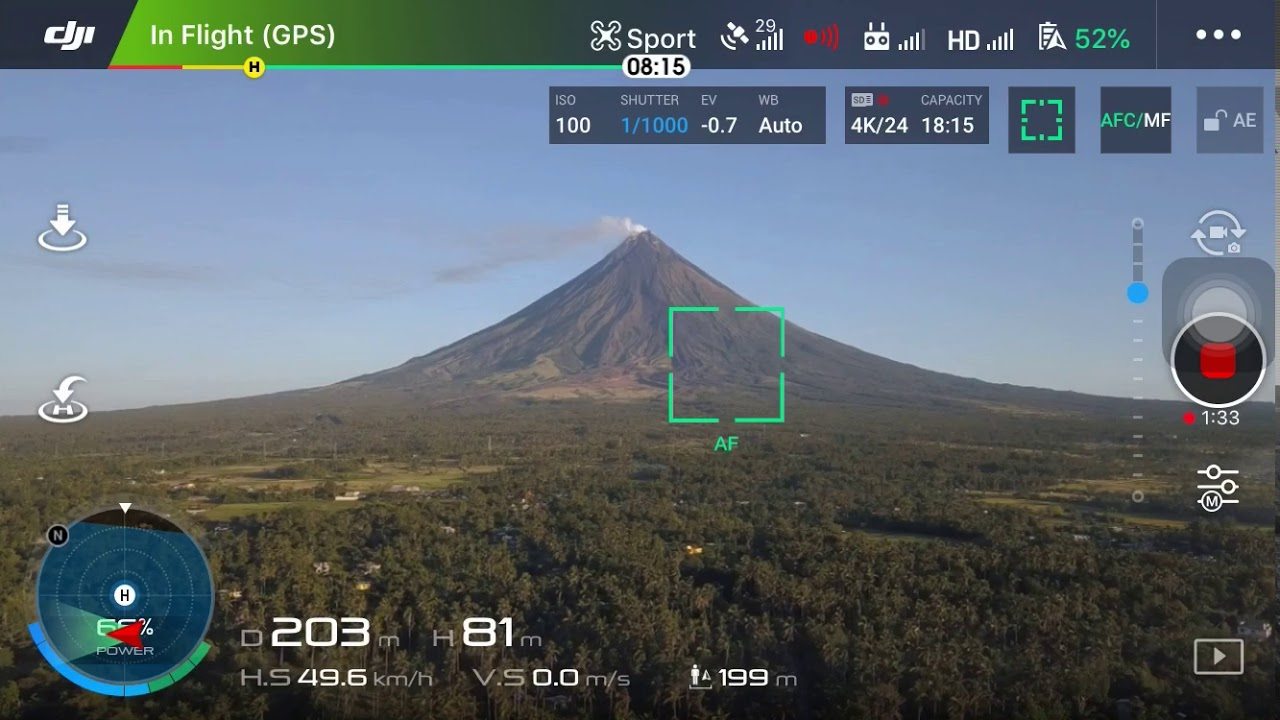 Home Quarantine Drone Shot of Mayon Volcano, 9th April 2020