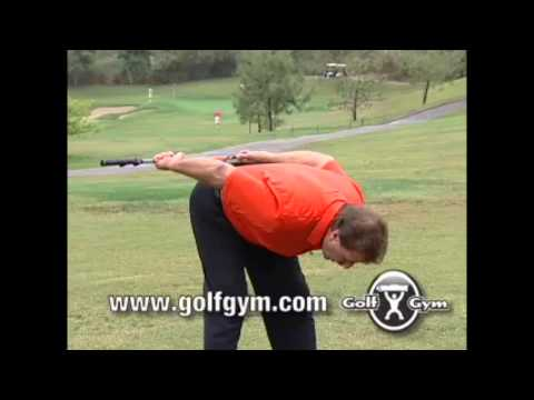 Golf Warm Up Overhead Stretch with Weighted Golf Gym Club