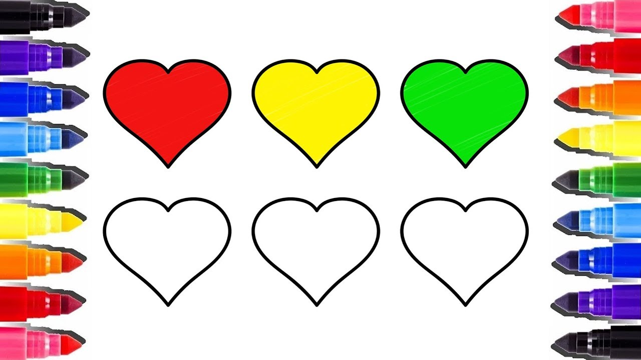 Coeur Arc En Ciel En Coloriage Heart Coloring Pages So Cute Best Colouring