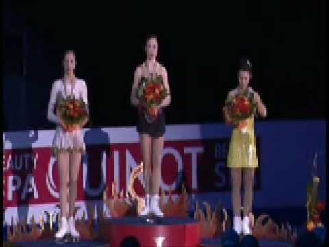 European Figure Skating Championships 2009 Victory Ceremony Ladies