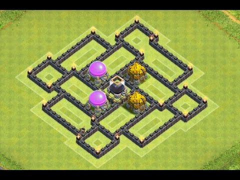 Clash of Clans - NEW TH7 Dark Elixir Farming Base With Air Sweeper Speed Build