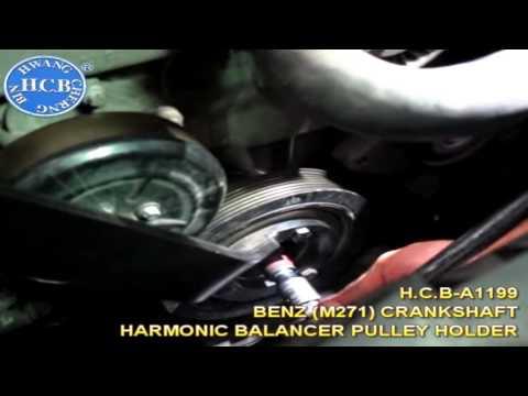 A1199 Двигатели Mercedes-Benz (M271). Держатель шкива балансира коленчатого вала.