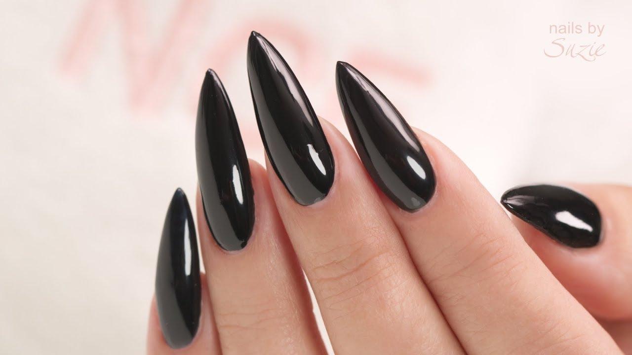 5 black nail polishes