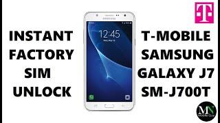 Sim Unlock T-mobile Samsung Galaxy J7 - No Device Unlock App Needed!